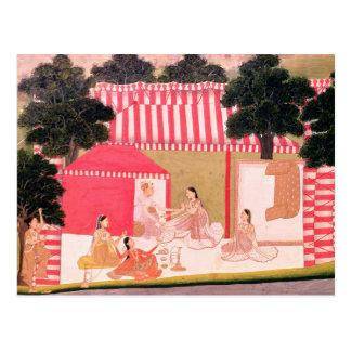Cartão Postal Um príncipe e seu Harem