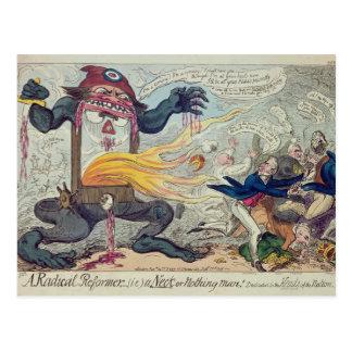 Cartão Postal Um reformista radical, um pescoço ou nada homem