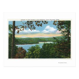 Cartão Postal Um relance do lago Garfield