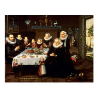 Cartão Postal Um retrato de uma família que diz a benevolência