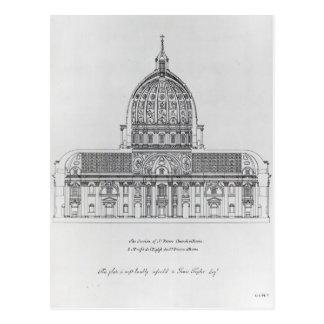 Cartão Postal Um secção transversal de St Peter, Roma