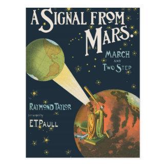 Cartão Postal Um sinal de Marte