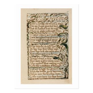 Cartão Postal Um sonho, ilustração 'das canções da inocência e