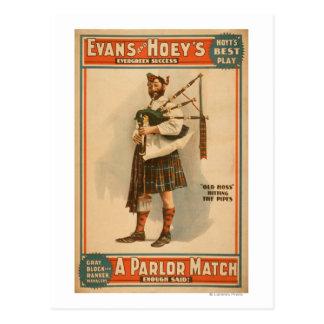 Cartão Postal Um tocador de gaita-de-foles escocês de Hoss