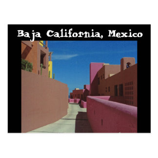 Cartão Postal Um trajeto através das paredes coloridas, Baja