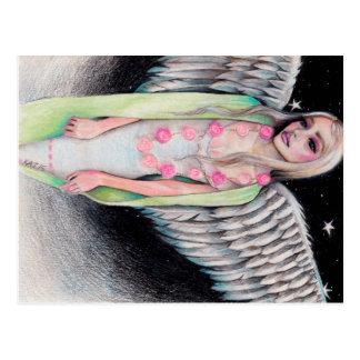 Cartão Postal Uma arte original de Kim Turner da ilustração da