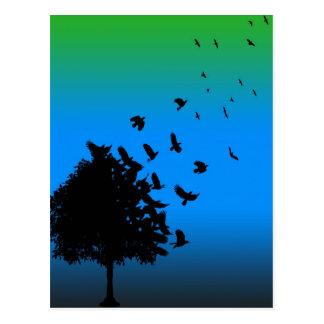 Cartão Postal Uma árvore dos corvos