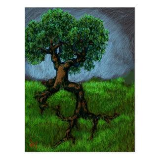 Cartão Postal Uma árvore em um monte