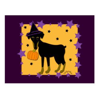 Cartão Postal Uma bruxa jazzístico