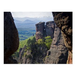Cartão Postal Uma caminhada durante todo ruínas do castelo de