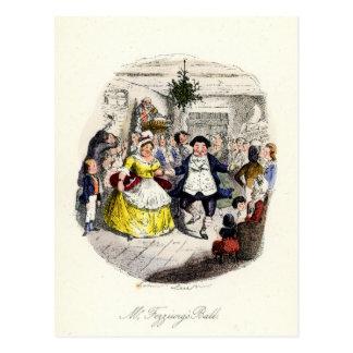 Cartão Postal Uma canção de natal do Natal - Bola do Sr.