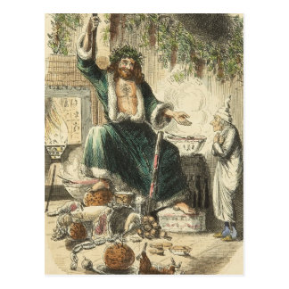 Cartão Postal Uma canção de natal do Natal: Visitante de Scrooge