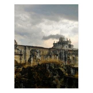 Cartão Postal Uma catedral nas ruínas (Guatemala)