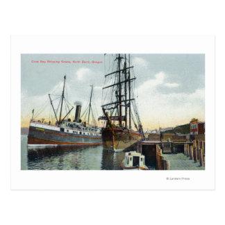 Cartão Postal Uma cena do transporte da baía dos Coos na doca