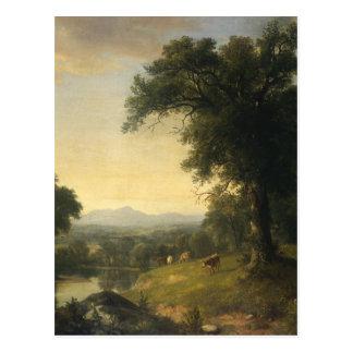 Cartão Postal Uma cena pastoral pelo calcinador Brown Durand