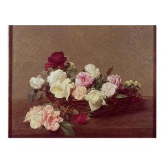Cartão Postal Uma cesta dos rosas, 1890