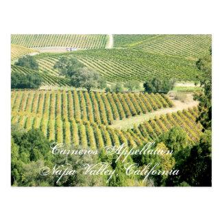 Cartão Postal Uma denominações ou de regiões de Napa Valley de