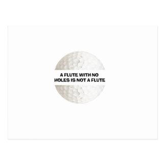 Cartão Postal uma flauta sem furos não é uma flauta - golfe