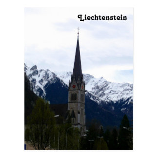 Cartão Postal Uma igreja em Vaduz, Liechtenstein