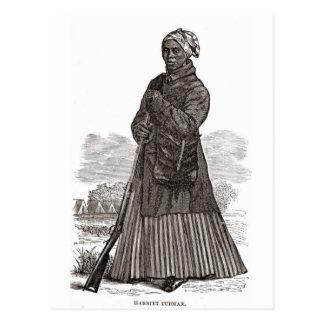 Cartão Postal Uma imagem do woodcut de Harriet Tubman, antes de