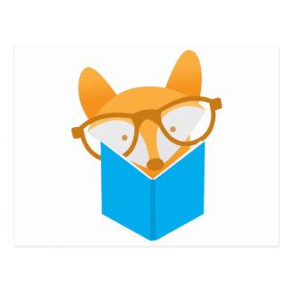 Cartão Postal uma leitura bonito da raposa