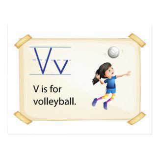 Cartão Postal Uma letra V para o voleibol
