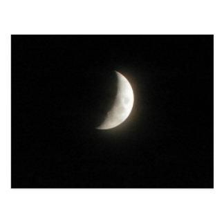 Cartão Postal Uma lua crescente de enceramento uma lua nova