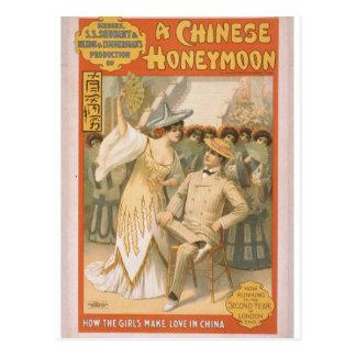 Cartão Postal Uma lua de mel chinesa