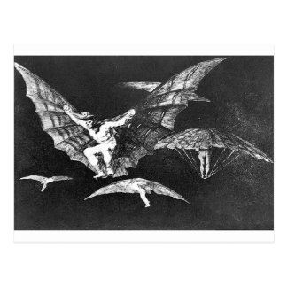Cartão Postal Uma maneira de vôo por Francisco Goya