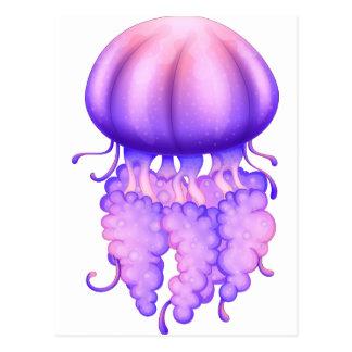 Cartão Postal Uma medusa da lavanda