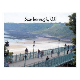 Cartão Postal uma outra opinião da praia, Scarborough, Reino