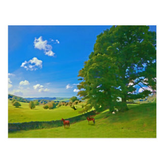 Cartão Postal Uma paisagem pastoral