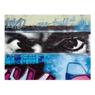 Cartão Postal uma parte de muro de Berlim