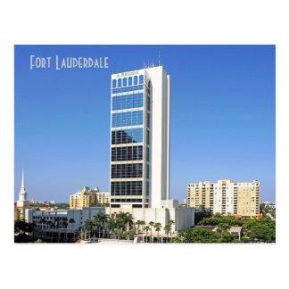 Cartão Postal Uma plaza financeira, Fort Lauderdale, Florida,