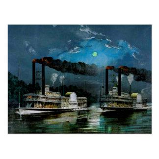 Cartão Postal Uma raça da meia-noite no Mississippi