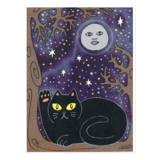 Cartão Postal Uma vez em uma lua azul afortunada