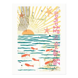 Cartão Postal Uma viagem aos peixes do oceano de Havaí Sun