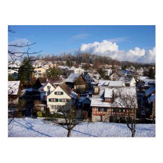 Cartão Postal Uma vila mágica do inverno