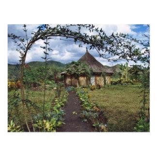 Cartão Postal Uma vila nas montanhas, Goroka, Papua novo