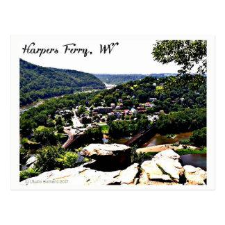 Cartão Postal Uma vista da balsa moderna dos harpistas do dia