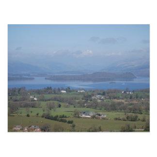 Cartão Postal Uma vista de Loch Lomond da bolinha de massa