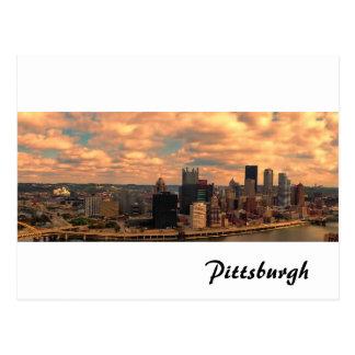Cartão Postal Uma vista de Mt Washington de Pittsburgh