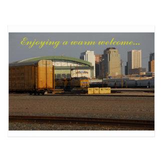 Cartão Postal umas calorosas boas-vindas de phoenix AZ
