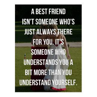 Cartão Postal Umas citações do melhor amigo