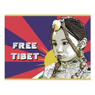 Cartão Postal Umas ECONOMIAS tibetanas pequenas TIBET~ da