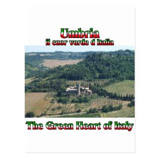 Cartão Postal Úmbria o coração verde de Italia