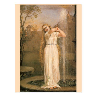 Cartão Postal Undine por John William Waterhouse
