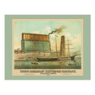 Cartão Postal União Estrada de ferro Elevador Empresa