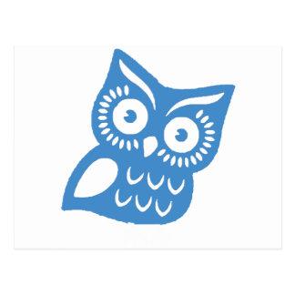 Cartão Postal Única coruja azul