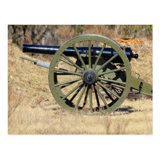 Cartão Postal Único canhão da guerra civil
